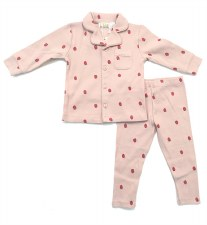 Button Down Berry PJ Pink 3