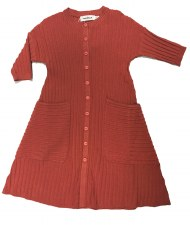 Ribbed Knit Dress Coral 5