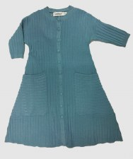 Ribbed Knit Dress Blue 12