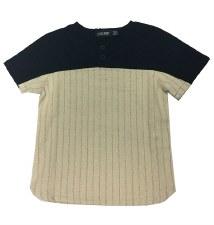 Linen S/S Shirt Black/Beige 6