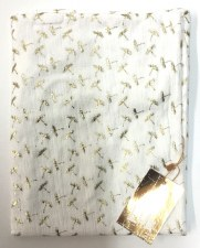 Gold Print Blanket White