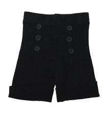 Ribbed Knit Shorts Black 18M
