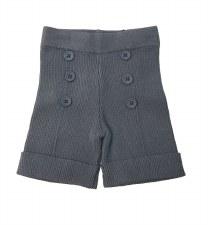 Ribbed Knit Shorts Blue/Grey 1