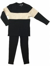 PJ W/ Sherpa Stripe Black 8