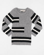 Ribbed Striped Sweater Grey 6