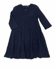 Denim Rib Henley Dress Dark 4