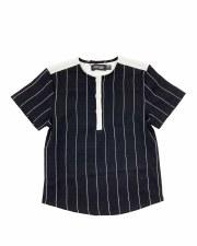 Pinstripe S/S Shirt Black/Whit