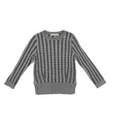 Cable Knit Sweater Charcoal 4