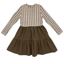 Cable Sweater Dress Coffee 3