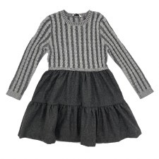 Cable Sweater Dress Grey 5