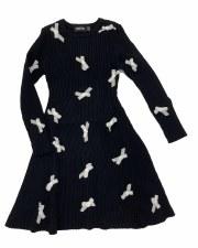 Dress W/ Velvet Bows