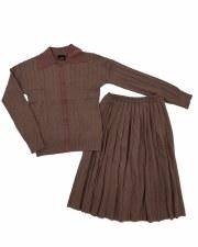 Girls Knit 2pc Mocha 8