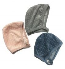 Textured Velour Bonnett Pink 3