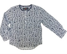 Printed L/S Shirt Navy 8