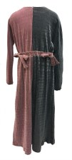 Velour Split Robe Grey/Pink 16