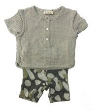 Baby Set W/ Metallic Grey 18M