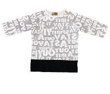 Alphabet Tshirt Grey/White 7