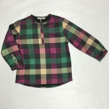 Checkered Shirt Plum 3 X