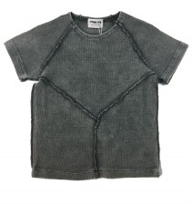 Ribbed Stitched S/S Tee Grey 1