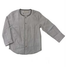 L/S Shirt W/ Trim Grey 8