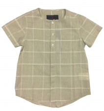 Box Print S/S Shirt Beige 6