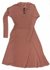 Ribbed Teen Dress Blush L(20)
