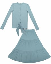 Ribbed Teen 2pc W/ Front Tie L