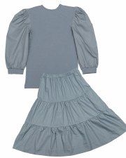 Teen 2pc W/ Tiered SKirt Blue