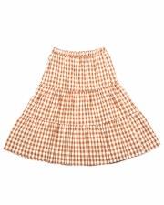 Checkered Teen Skirt Beige/Whi