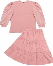 Teen 2pc W/ Tiered SKirt Blush