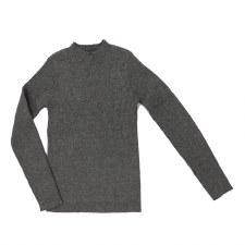 Ribbed Mockneck Grey 3