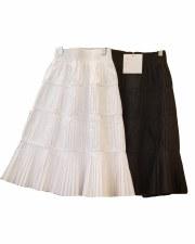 Layered Pleated Teen Skirt Bla