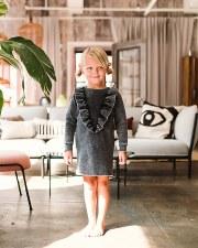 Denim Ruffle Dress Black 6X
