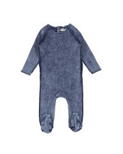 Denim Footie Blue Wash 6M