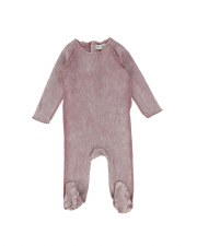 Denim Footie Pink Wash 9M