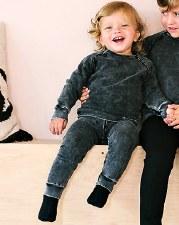 Denim Raglan Baby Set Black 12