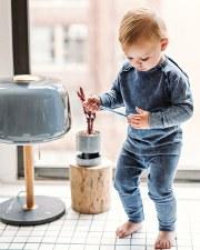 Denim Raglan Baby Set Blue 12M