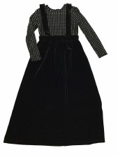Velour Jumper Robe Black/Silve