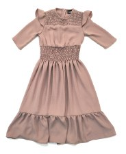 Robe W/ Smocking Blush 18