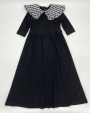 Robe W/ Collar Black/White 4