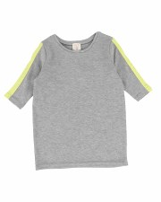 3?4 Sleeve Linear Tee Grey/Neo