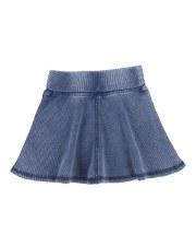 Ribbed Skirt- Lil Legs Blue Wa