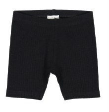 Lil Legs Ribbed Shorts Black 1