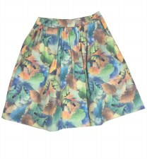 Leaf Print Skirt Green 6