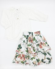 Floral Eyelet 2pc Ivory 6