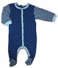 Striped Contrast Stretchie Blu