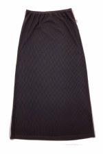 Long Ribbed Slinky Skirt Black