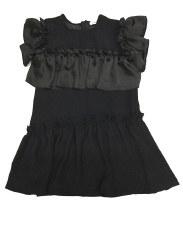Dress w/ Rufles Black 6