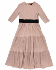 Tiered Crinkle Robe Blush 16