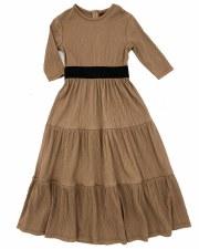 Tiered Crinkle Robe Mocha 6X
